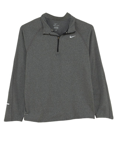 Nike Dri Fit Element  Running  Long Sleeve Tee Shirt  Big Kids Style : 425326