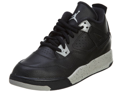 Nike Jordan 4 Retro LS BP Black Tech Grey Oreo  Boys / Girls Style :707430