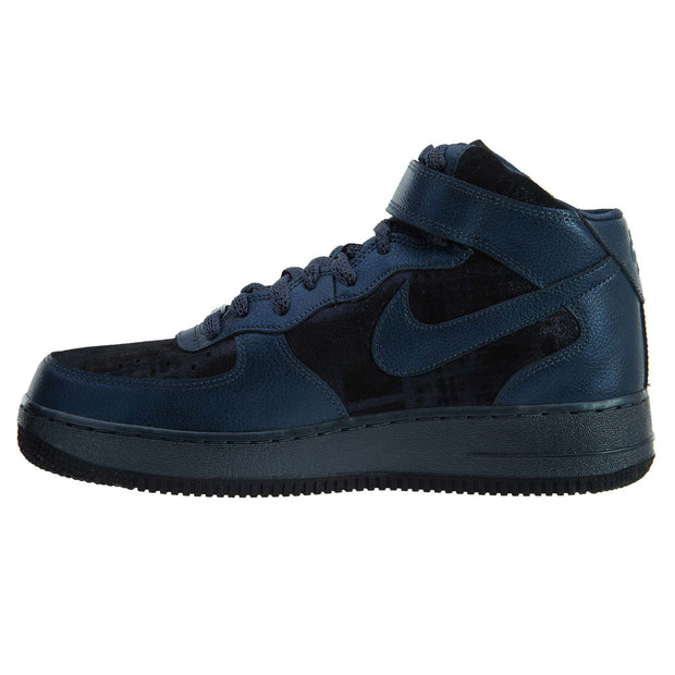 Nike Air Force 1 Mid Premium Shoes Trainers Blue Womens Style :805292