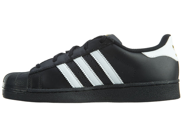 Adidas Superstar Foundation Little Kids Black White Shoes Boys / Girls Style :BA8379