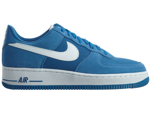 Nike Air Force 1 Star Blue White Low Suede Mens Style :820266