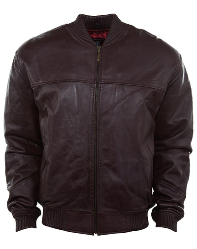 Hudson Outerwear Basic Leather Jacket Mens Style : HU00241