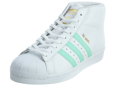 Adidas Pro Model White Electric Green Gold Leather Mens Style :BY3728