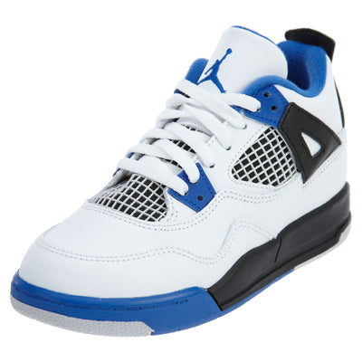 Jordan 4 Retro Little Kids White Royal Blue Shoes Boys / Girls Style :308499