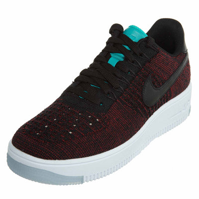 Nike W Air Force 1 Flyknit Low - black/black-team red Womens Style :820256