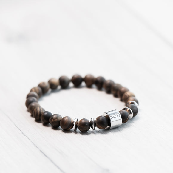 SON armband / matte Tiger Eye