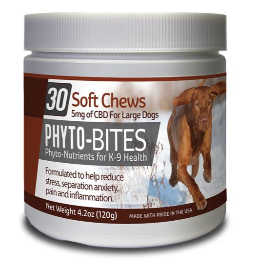 PHYTO BITES DOG TREATS  30/CT - 5mg CBD - cbd2live.com