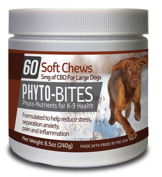 PHYTO BITES DOG TREATS  60/CT - 5mg CBD - cbd2live.com