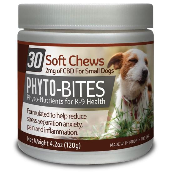 PHYTO BITES DOG TREATS  30/CT - 2mg CBD - cbd2live.com