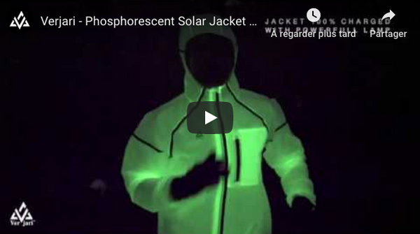 Veste phosphorescente V-LIGHT Youtube