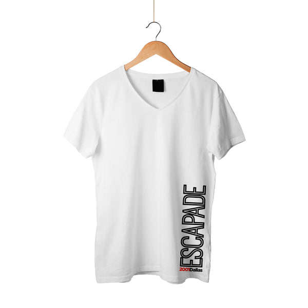Escapade Inline Side White Shirt Black Letters