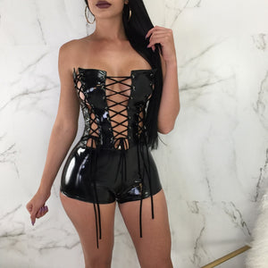 Sexy Lace Up Rompers