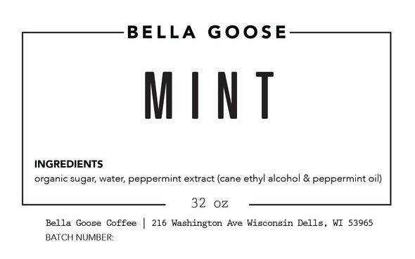 Bella Goose Mint Syrup (1 Case)