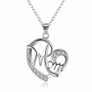 Mom Luxury Silver Plated Necklace
