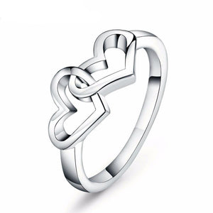 'Interlocking Hearts' Ring