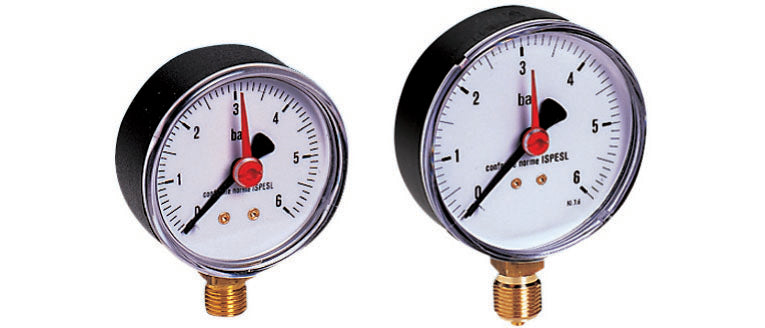 Pressure Gauge with Radial Connection T2 Topway Plus