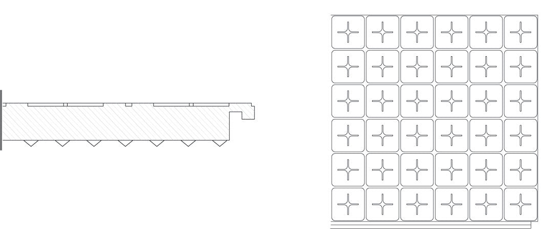 Plain Floor Insulating Panel (Not Castellated) Diagram