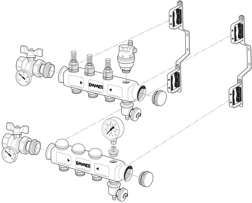 Pre-assembled Stainless Steel Manifold Diagram