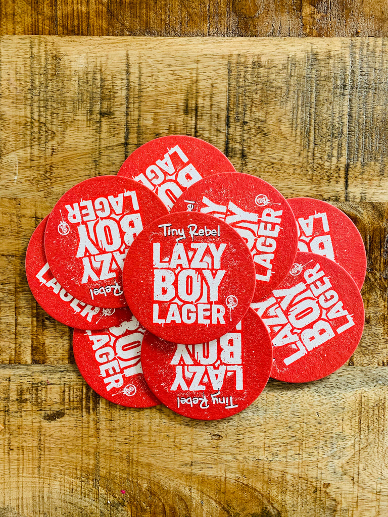 Lazy Boy Lager Beer Mats