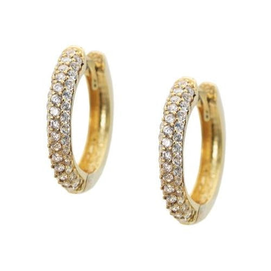 Small 18k Gold Plated Silver Dazzling Hoops