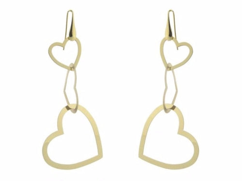 18k Gold Plated Sterling Silver Dangling