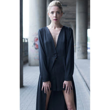 Black maxi dress with high waist short