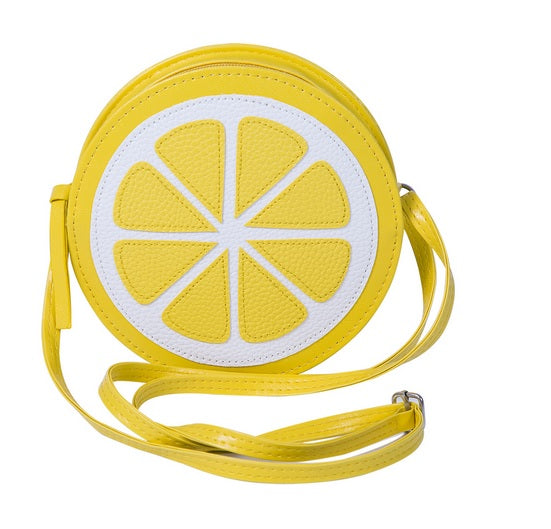 Cute Yellow Lemon-Shaped Handbag