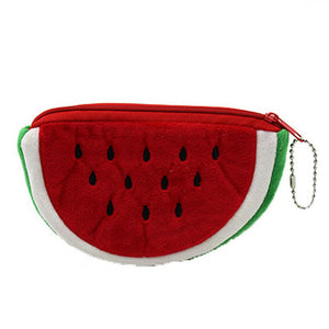 Plush Coin Purse In 6 Cute Fruit Designs