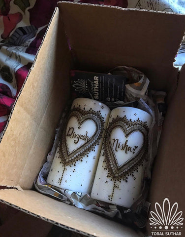 Twin Hearts Candle Set