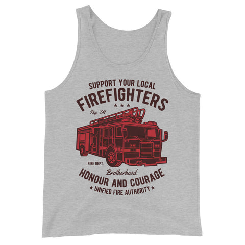Fire Fighters Truck - Unisex Tank-Top