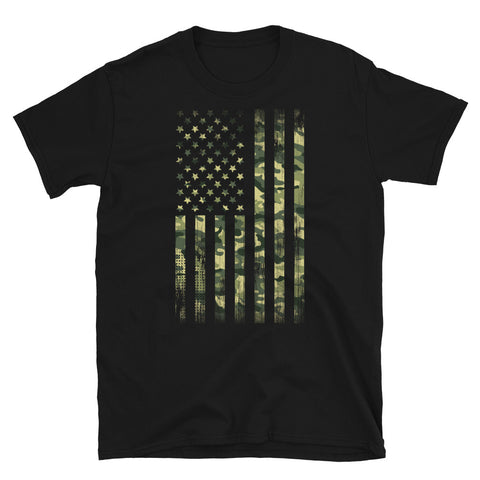 Camo US Flag - Unisex T-Shirt