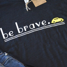 be brave with yellow bug t-shirt
