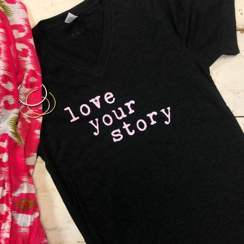Love Your Story - V-Neck T-Shirt