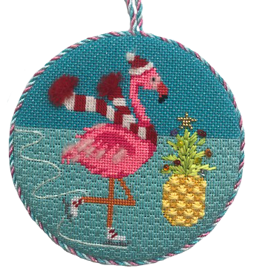 flamingo needlepoint kit with beads
