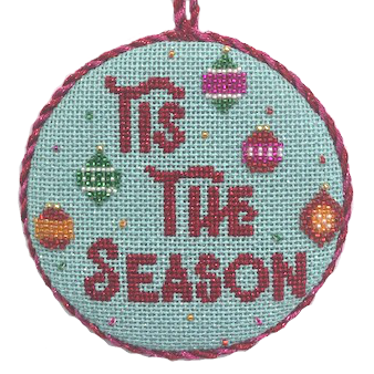 Tis the season needlepoint kit with beads