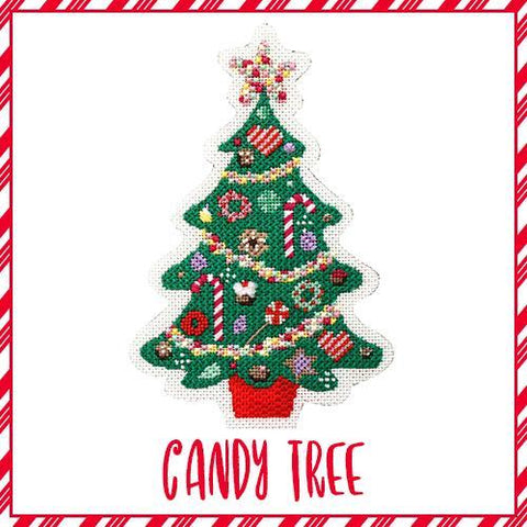 Candy Tree needlepoint kit for stitching circles