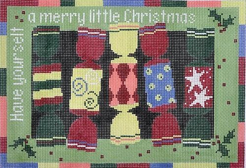 Christmas Crackers needlepoint design by Pippin