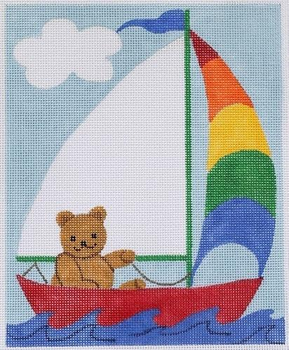 bear in sailboat