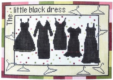 Little Black Dresses needlepoint by Pippin