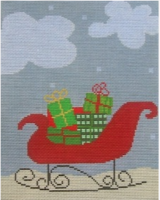 sleigh needlepoint Birds of a Feather
