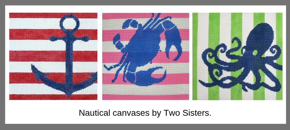 Nautical needlepoint by Two Sisters