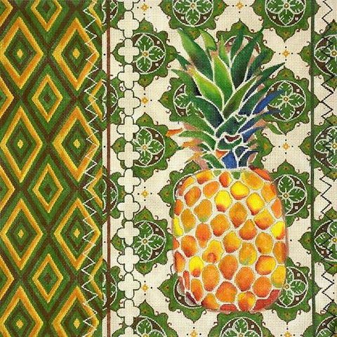 Pineapple Ikat needlepoint