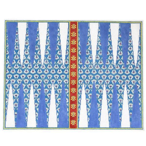 Backgammon needlepoint game board