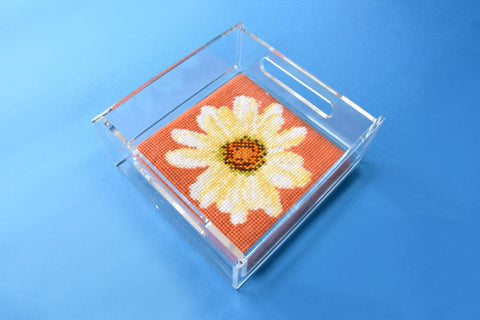 elizabeth bradley needlepoint kit finished in an acrylic tray