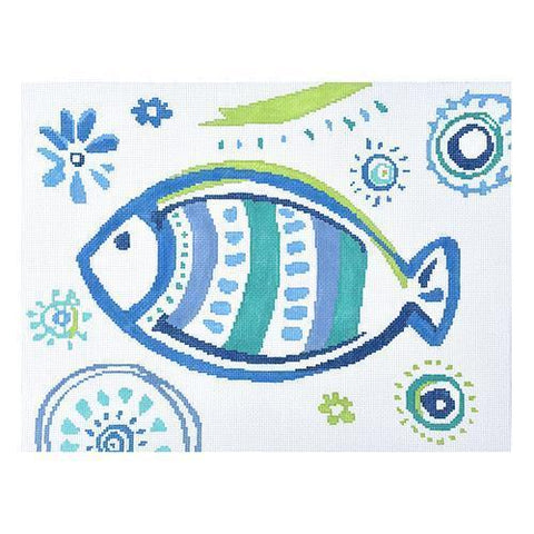 Kirk and Bradley needlepoint Tropical Fish