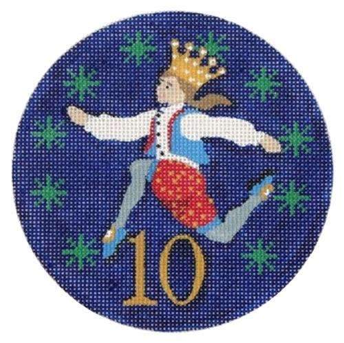 10 Lords a Leaping Painted Canvas Julie Mar Needlepoint Designs