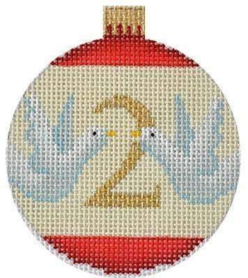 12 Days Baubles - 2 Turtle Doves Painted Canvas Kirk & Bradley