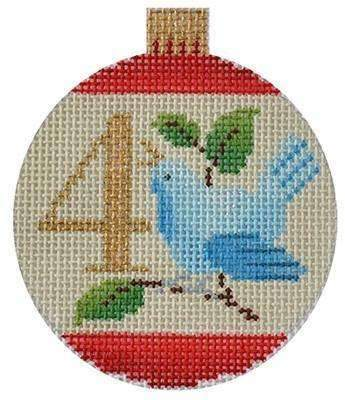 12 Days Baubles - 4 Calling Birds Painted Canvas Kirk & Bradley