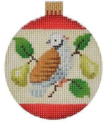 12 Days Baubles - Partridge Painted Canvas Kirk & Bradley