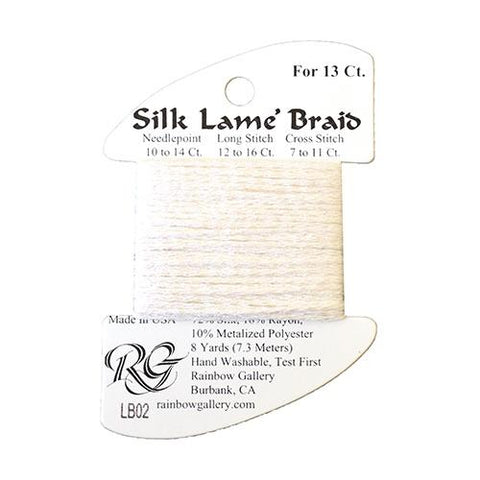 #13 Silk Lame Braid - 002 White Thread Threads